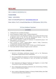 Sample Resume For Maintenance Engineer by Instrument Commissioning Engineer Resume Sample
