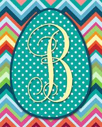 Monogram Letter B I Should Be Mopping The Floor Printable Easter Monograms