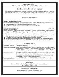 First Time Job Resume Examples by Resume Example Embedded Software Engineer