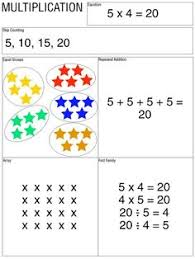 array game math multiplication multiplication facts and