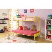 Eclipse Twin Over Futon Metal Bunk Bed Multiple Colors Walmartcom - Metal bunk beds with futon