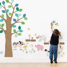 farm animals wall sticker peel and stick repositionable fabric farm animals wall sticker for kids farm animals wall sticker for kids room