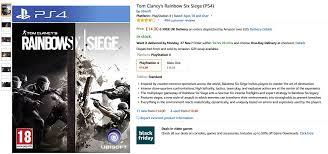 siege amazon tom clancy s rainbow six siege ps4 14 xbox one 14 59 at amazon