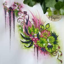 johanna basford u0027s magical jungle lilly pad w frog
