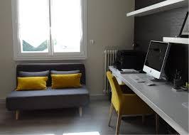 coin bureau design coin bureau moderne gris et jaune un amour de maison