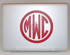 door monogram decal 4x6 wall decal custom initials for door 3