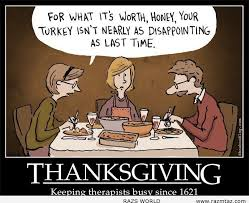thanksgiving keeping therapists busy since 1621 pictures photos