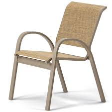 Stackable Sling Patio Chairs by Telescope Aruba Ii Sling Stacking Cafe Chair
