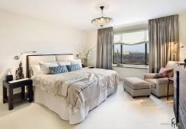 Curtains Decoration Luxurious Bedroom With Big Bed And Cozy Lounge Chair Also Big