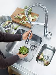 kitchen modern grohe single lever kitchen faucet with spray and