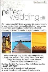 wedding registry for travel wedding registry honeymoon travel agents