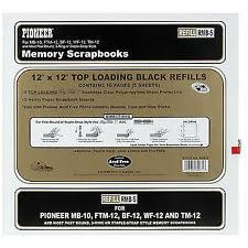 photo album page inserts black 12x12 album scrapbooking page refills ebay