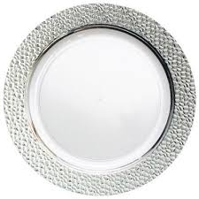 clear plastic plates clear plastic plates with silver hammered edge plastic plates