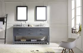 White Bathroom Vanity Cabinet Virtu Md 2272 Wmsq Gr Caroline Estate Double Bathroom Vanity