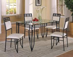 Pub Table And Chairs Set Crown Mark Matrix 5 Piece Dinette Table And Side Chairs Set