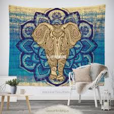 Tapestry On Bedroom Wall Elephant Tapestry Lotus Mandala Wall Tapestry Hippie Tapestry