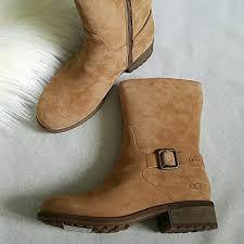 ugg shoes australia brown boots poshmark 53 ugg shoes ugg australia keppler shearling moto boot