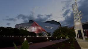mercedes headquarters time lapse sunset over mercedes benz stadium youtube
