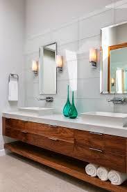 Modern Walnut Bathroom Vanity Walnut Vanity White Top Tile Sleek And Clean Lines House Of