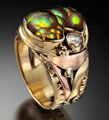 fine art rings images Larry river fine art handmade jewelry fire agate diamond rose and jpg