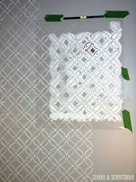 bathroom stencil ideas stenciled bathroom wall and the cutting edge stencil winner
