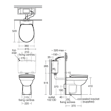 contour 21 back to wall standard height wc suite back to wall