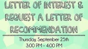 workshop to help students write letter of interest receive
