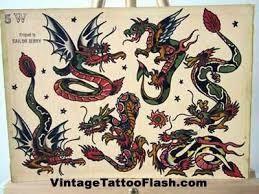 sailor jerry flash sheet dragons tattoos bumper