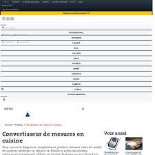 tableau conversion cuisine convertisseur de cuisine 28 images convertisseur de mesures