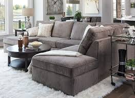 deep seated sectional sofa living room deep seated sectional in grey color tone and round
