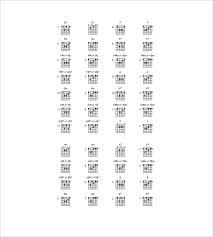 guitar chord chart template u2013 7 free word excel pdf documents
