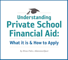financial aid for private schools