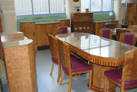 art deco dining table 6 chairs sideboard and server cloud 9