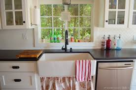interior window trim and farmhouse sink also fasade backsplash