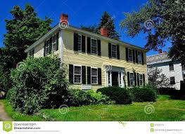 Colonial Home Fitzwilliam Nh 18th Century Colonial Home Editorial Stock Photo