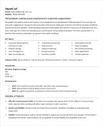 Resume Template No Experience Printable Resume Template 29 Free Word Pdf Documents