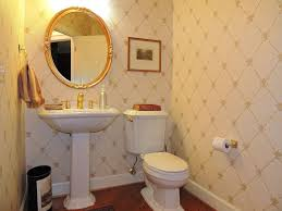 Pedestal Sink Height Traditional Powder Room With Powder Room U0026 Hardwood Floors In