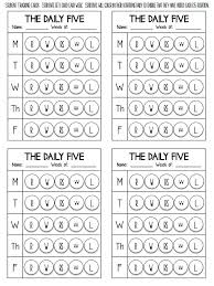 the daily five printables 242 best kindergarten daily 5 ideas centers images on