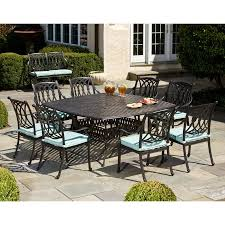 square dining table set for 8 alfresco home rimini 64in square dining set seats 8 westwood