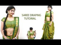 Draping Tutorial How To Wear Pattu Saree Draping In Different Front Pallu Styles