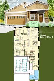 Home Design For Narrow Land by Plan 64414sc Narrow Lot Bungalow Grundrisse Häuschen