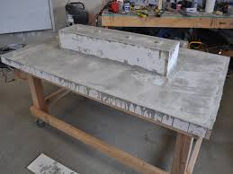 Cement Patio Table Stunning Led Concrete Patio Table With A Built In Cooler