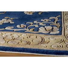 Blue Wool Rug Floral Wool Rug Roselawnlutheran