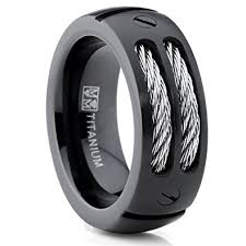 black titanium rings metal masters co 8mm men s black titanium ring wedding band with