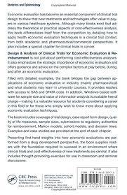 design u0026 analysis of clinical trials for economic evaluation