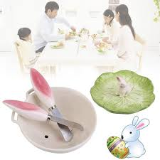 Easter Rabbit Table Decorations by Cute Easter Rabbit Bowl Tableware Ceramic Salad Fruit Holding