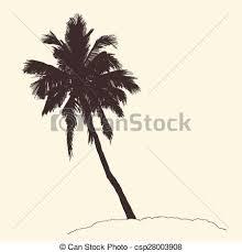 vector clipart of palm tree bounty vintage engraving vector sketch