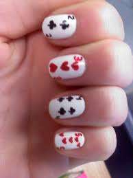 weeklywackynails deck of cards nail art
