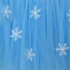 snowflake tutu tulle table skirt cloth for christmas birthday