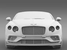 white bentley 2016 bentley continental gt speed breitling jet team series 2016 3d